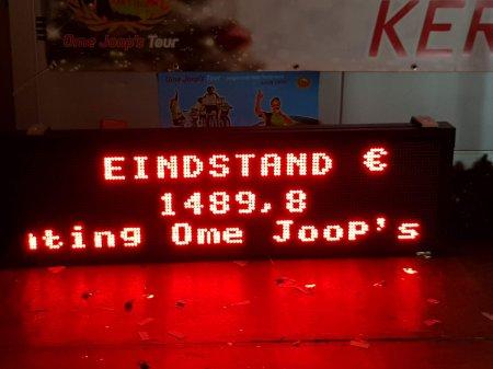 Opbrengst Radio De Vette Ketting Kerstshow ruim € 1.500,-