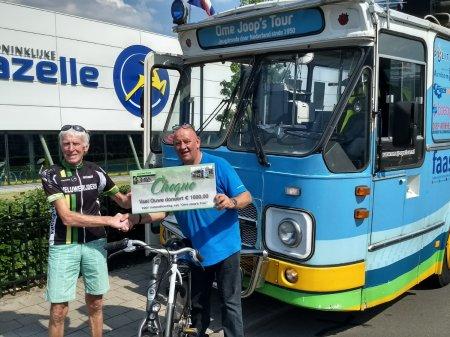 De Vael Ouwe sponsort Ome Joop's Tour met € 1.000,-
