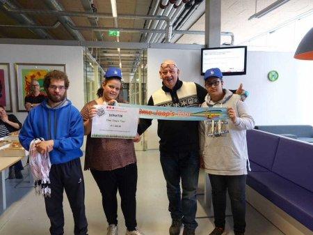 LeerPark Presikhaaf doneert € 1.100,- aan Ome Joop's Tour
