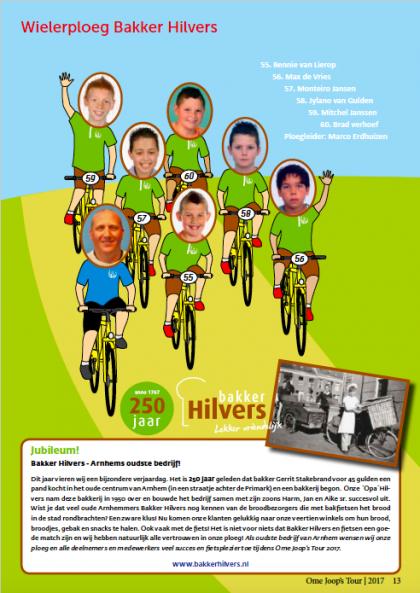 OmeJoopsTour 2017 Wielerploeg Bakker Hilvers