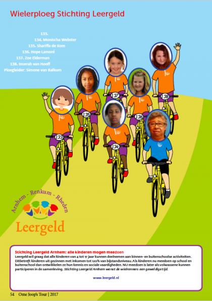 OmeJoopsTour 2017 Wielerploeg Stichting Leergeld
