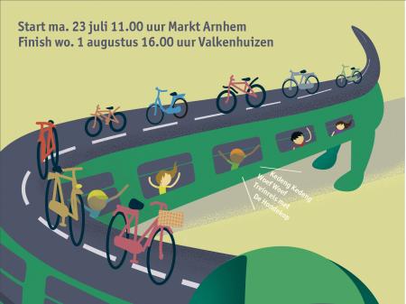 Poster Ome Joop's Tour 2018 hangt in Arnhem